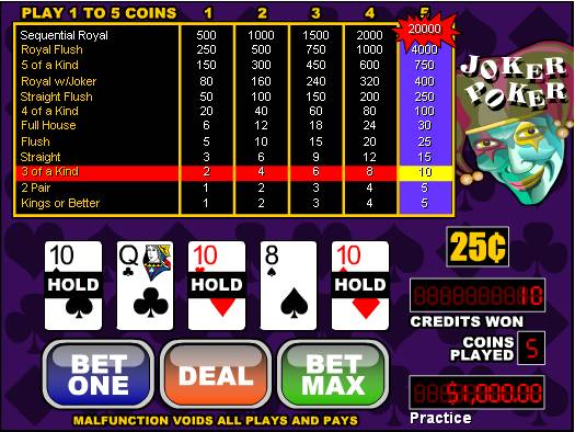 Bodog Casino Joker Poker